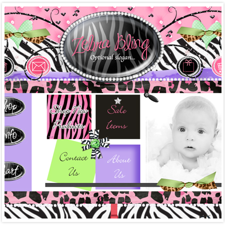 Zebra Bling 15 Exclusive-