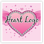 Heart & Wings Premade Logo-