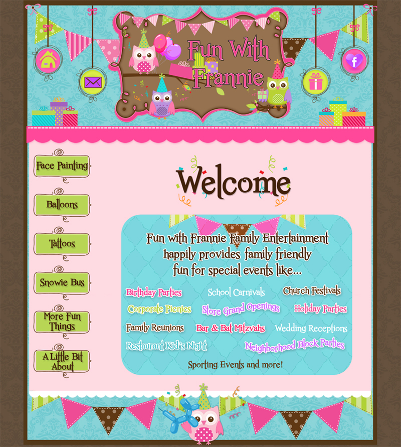 girly web design